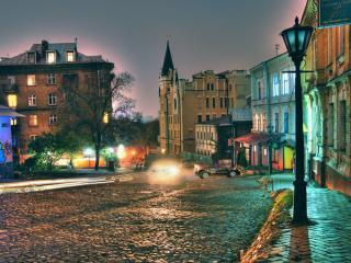 обои Ночной Киев. Украина фото