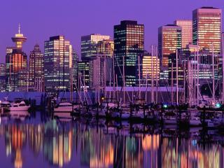 обои Утренний Ванкувер. Канада фото