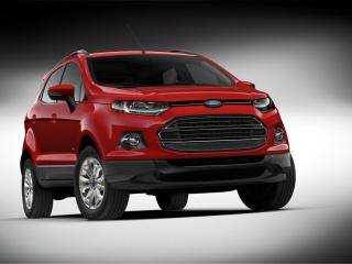 обои Ford EcoSport красного цвета фото