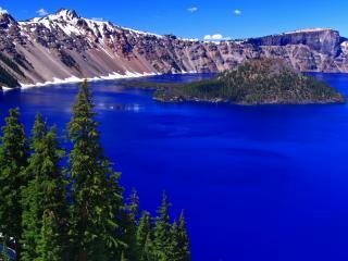 обои Горное озеро штат Орегон фото
