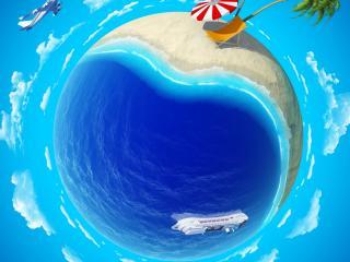 обои Земной шарик как остров фото