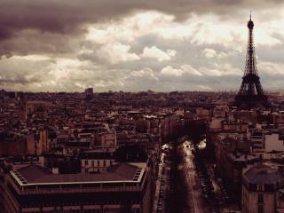 обои Осенний Париж свысока фото