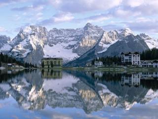 обои Озеро Ауронцо Ди Кадоре. Италия фото