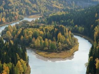 обои Осень на реке, Пермский край фото