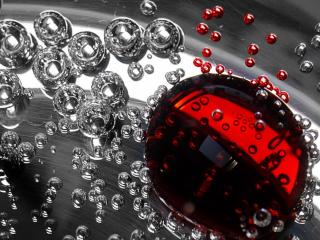 обои Абстракция с пузырьками воды фото