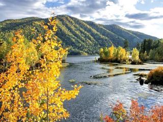 обои Осень в Сибирских горах фото