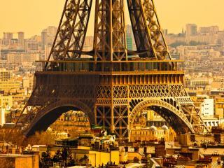 обои Основание Эйфелевой башни. Париж фото