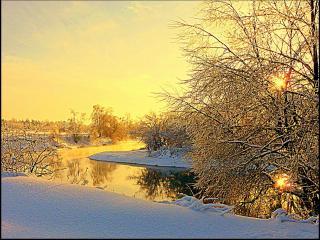 обои Первый день ноября на реке фото