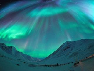 обои Северное сияния на Хребте Брукса. Аляска фото