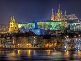 обои Ночная Прага. Чехия фото