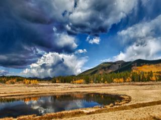 обои Осенние горы и озеро фото