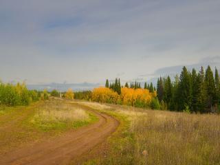 обои Осенними дорогами. фото