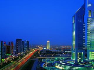 обои Вид на город и небоскреб фото