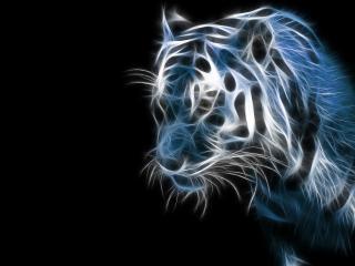 обои Синий тигр фото