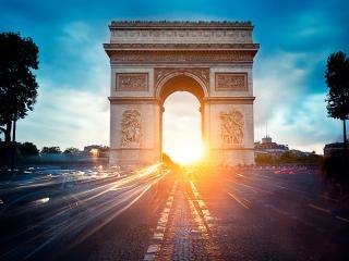 обои Триумфальная арка. Сумерки фото