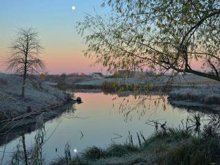 обои Утро с проседью на реке фото