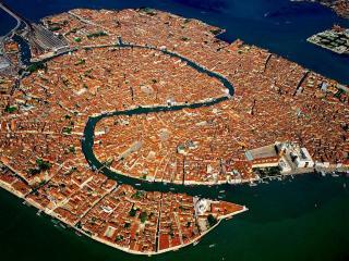 обои Венеция с высоты птичьего полета фото