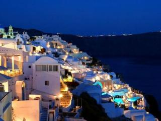 обои Ночь на острове Санторини фото
