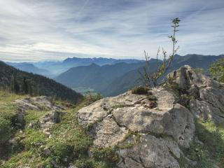 обои Горы уходят за горизонт фото
