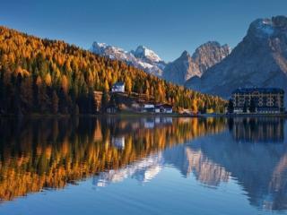 обои Золотая осень в горах фото
