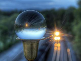 обои Прибытие поезда,   отражение фото