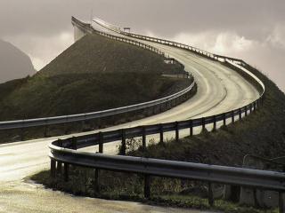 обои Атлантическая дорога…или поворот в никуда в Норвегии фото