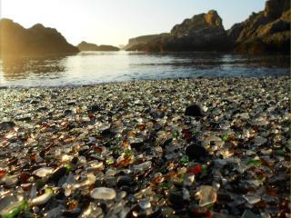 обои Стеклянный пляж США фото