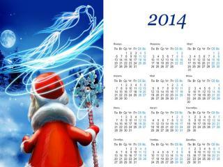 обои Календарь 2014 фото