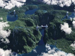 обои Страна озер с высоты фото