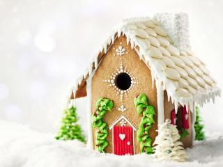 обои Рождественский кремовый домик фото