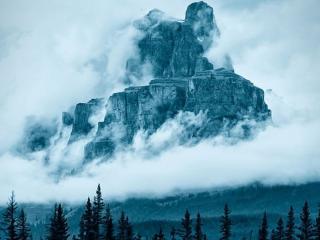 обои Гора Castle в национальном парке Банф,   штат Альберта,   США фото