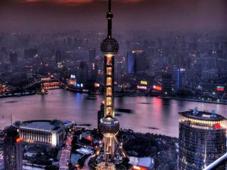 обои Шанхайская телебашня фото