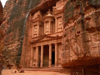 обои Город древности Петра в песчаных горах. Иордания фото