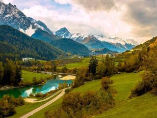 обои Горы и долина фото