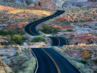 обои Дорога через национальный парк Долина огня фото