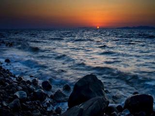 обои Закат солнца над морем в Турции фото