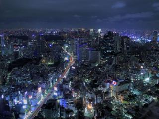 обои Ночной Токио фото