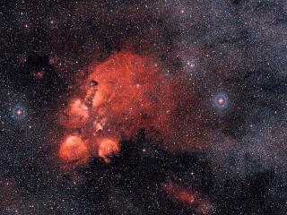 обои Окрестности туманности Кошачьей Лапы фото