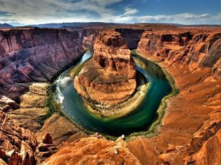 обои Изгиб реки Колорадо фото