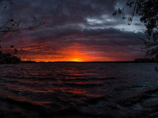 обои Невероятный закат в штате Висконсин фото
