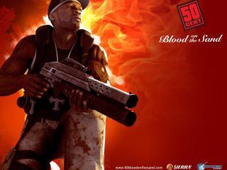 обои 50 Cent с пушкой фото