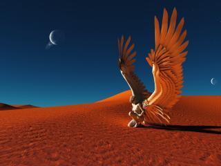 обои Пустынный ангел фото