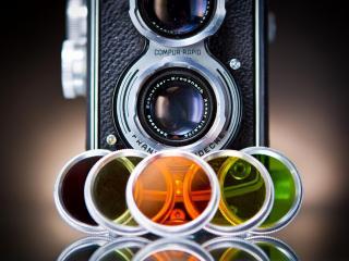 обои Фотоаппарат с цветными линзами фото