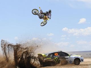 обои Авто мото спорт в пустыне фото