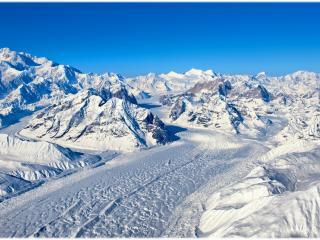 обои Зимняя дорога в горах фото