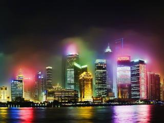обои Ночной Шанхай фото
