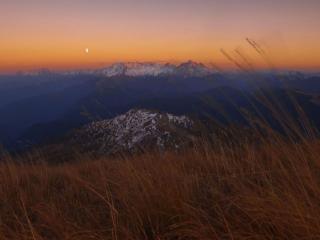 обои Осеннее утро в горах фото
