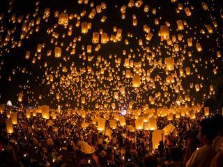 обои Фестиваль тысячи фонариков в Лои Кратонг фото
