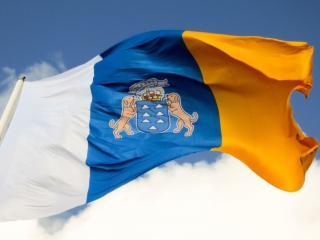 обои Флаг Канарских островов фото