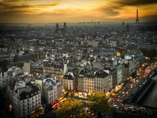 обои Парижские сумерки фото